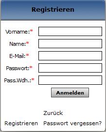 User-Registrierung